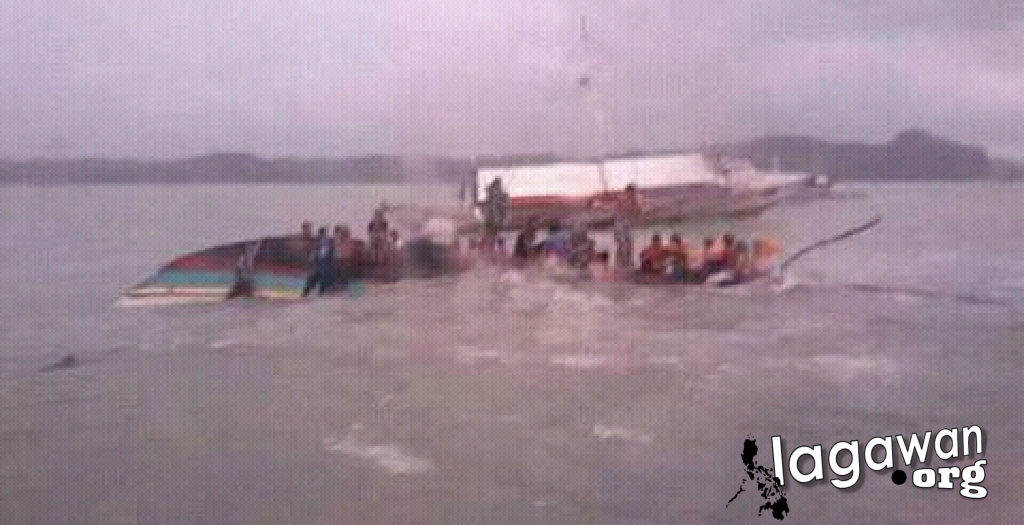 Pumpboat capsized in Iloilo-Guimaras SeaPumpboat capsized in Iloilo-Guimaras Sea