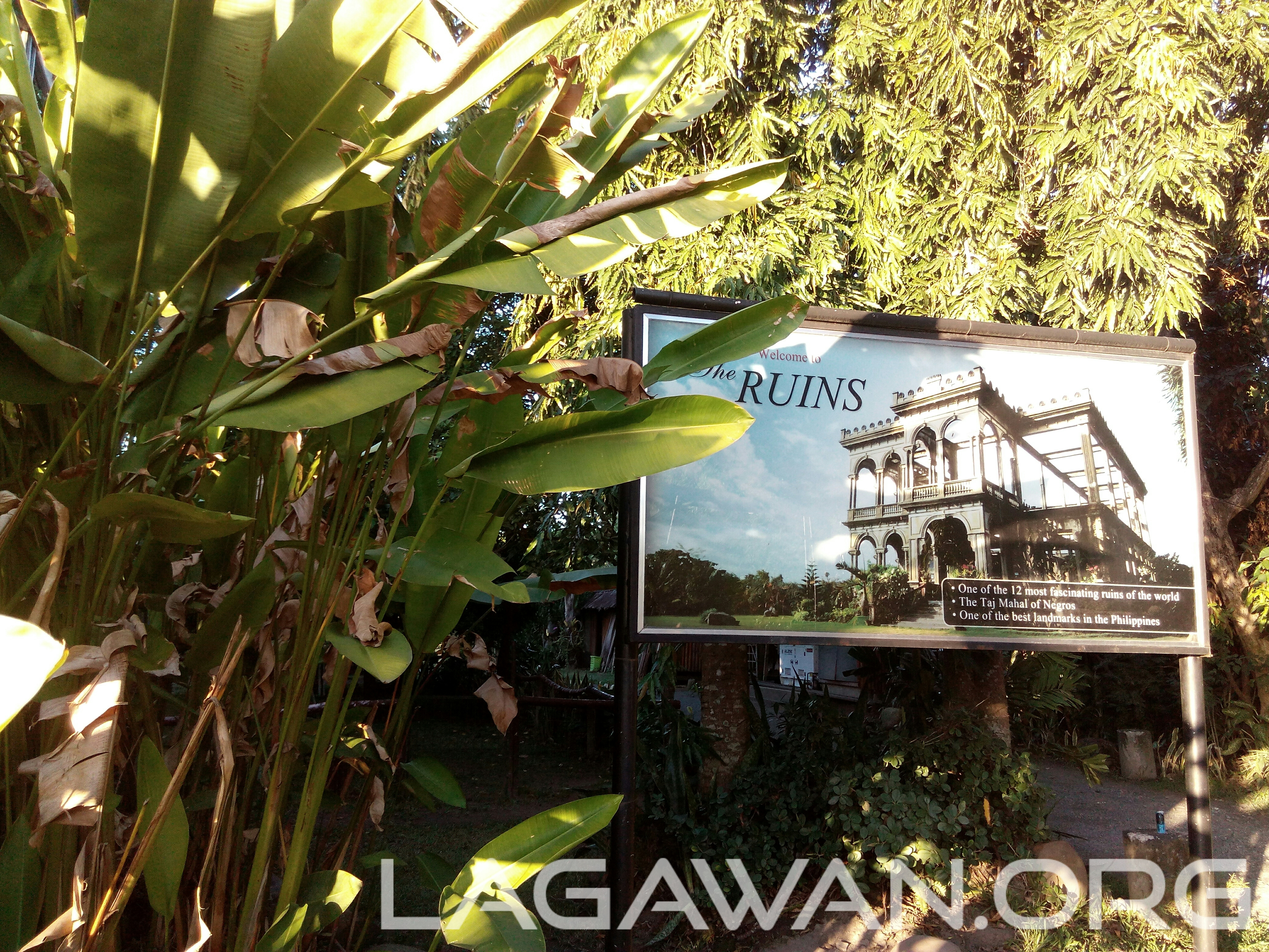 The Ruins Talisay Signage